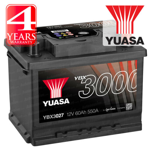 Yuasa Car Battery Calcium Black Case 12V 550CCA 60Ah T1 For VW Polo MK4 9N 1.4
