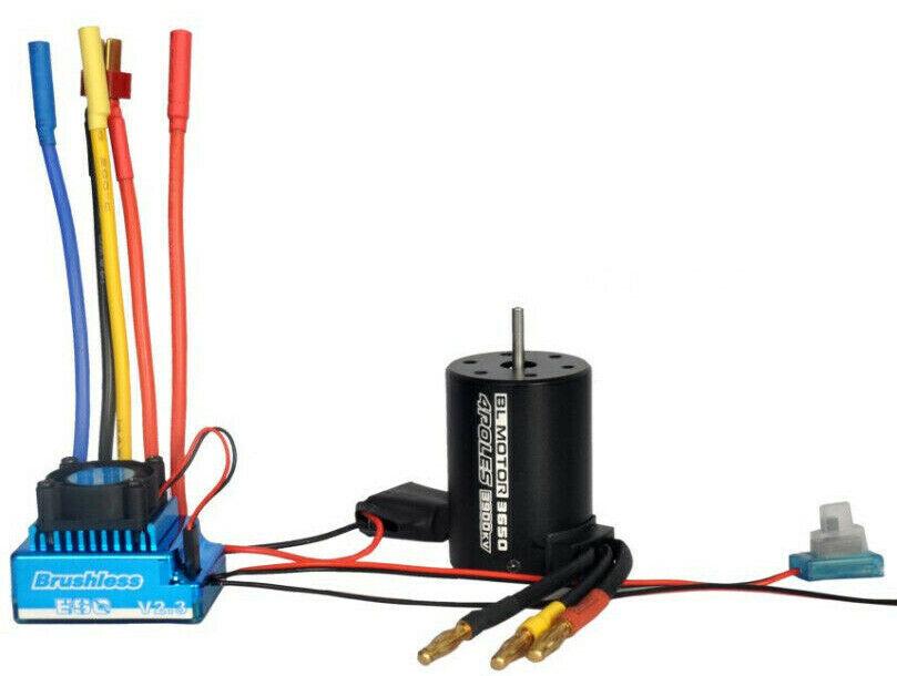 1 10 Rc auto Brushless Esc Motor  For Hpi Jumpscaliente E-Firestorm Blitz Sprint2 Rs4  ecco l'ultimo