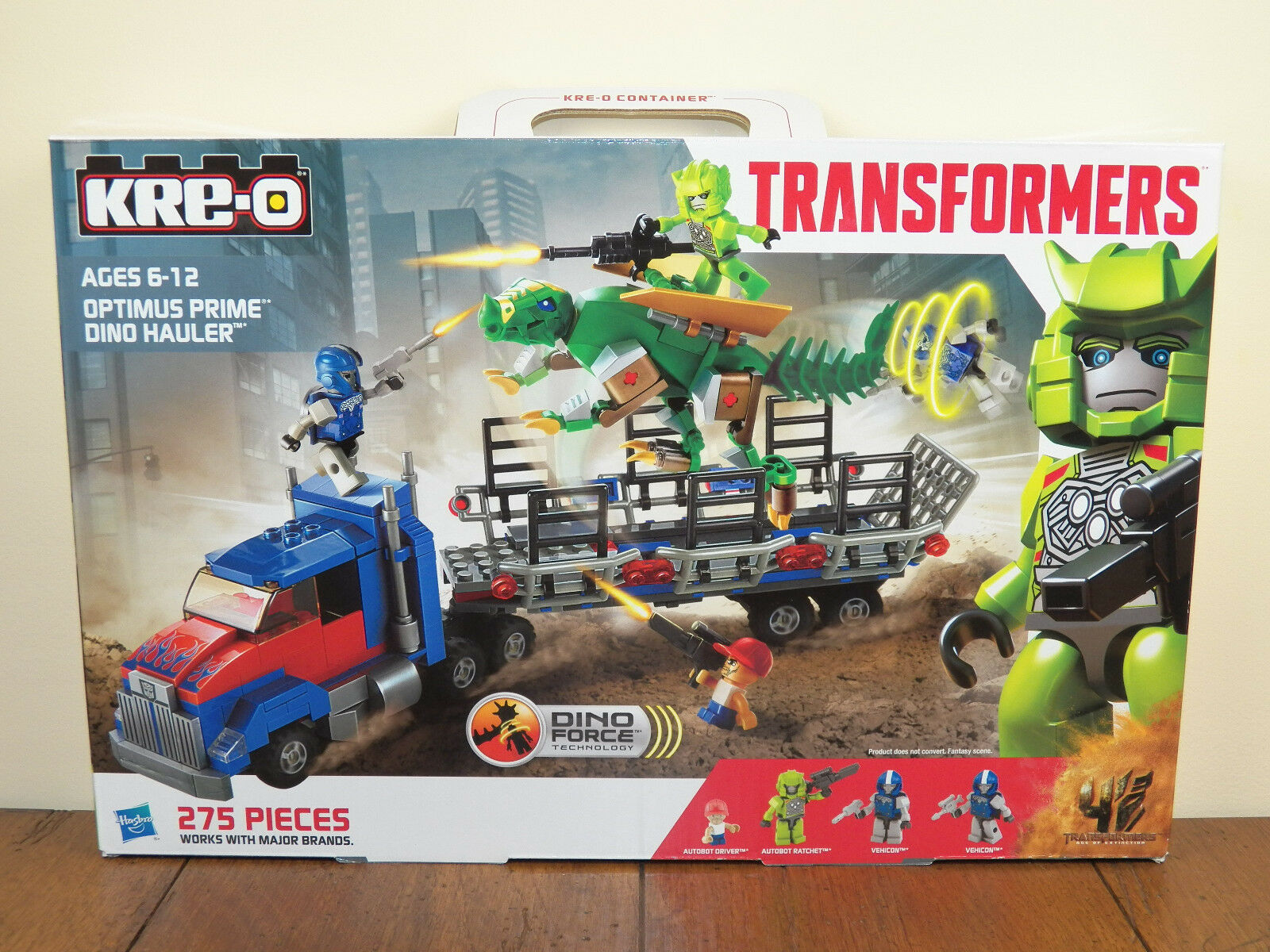 Kre-O Transformers Optimus Prime Dino Hauler Age Extinction Kreo Set A7796 NEW