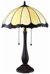 tiffany style black scallop table lamp desk lamps decorative glass. Black Bedroom Furniture Sets. Home Design Ideas