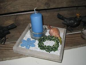 Holztablett Dekoschale Kerzen Tablett Tischdeko Fruhling Holz