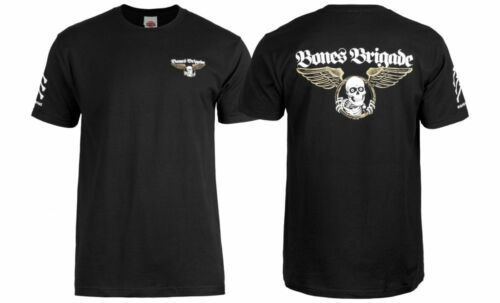 Powell Peralta BONES BRIGADE WINGED RIPPER LOGO Shirt BLACK MEDIUM