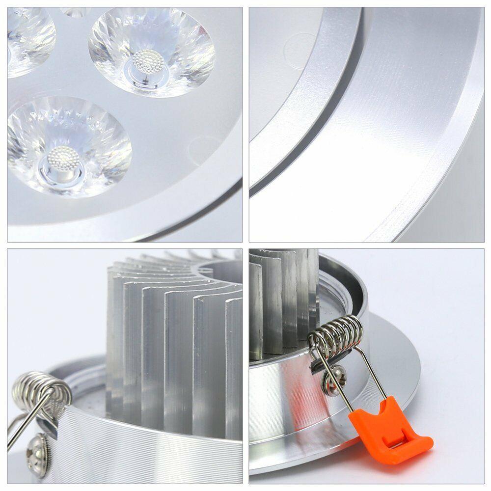 Einbaustrahler Einbauspot Esszimmer 3x50 Watt Halogen Spot Flur Messing Metall