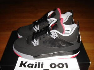ac03ed5663b174 Image is loading Nike-Air-Jordan-4-Retro-GS-Black-Cement-