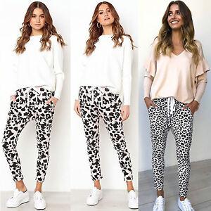 AU-Women-Leopard-Print-Harem-Trousers-Leggings-Ladies-Casual-Joggers-Sport-Pants