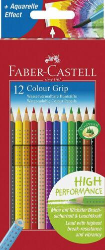 Faber Castell Buntstifte Color Grip 12er Set Farbstifte Kartonetui 112412