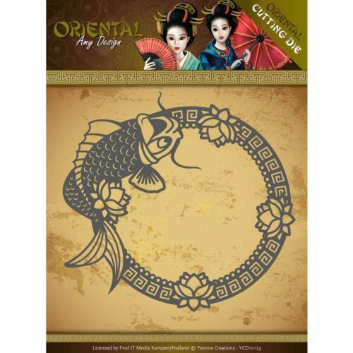 ORIENTAL KOI FISH FRAME Die Cutting Die Find It Trading Amy Design ADD10139 New