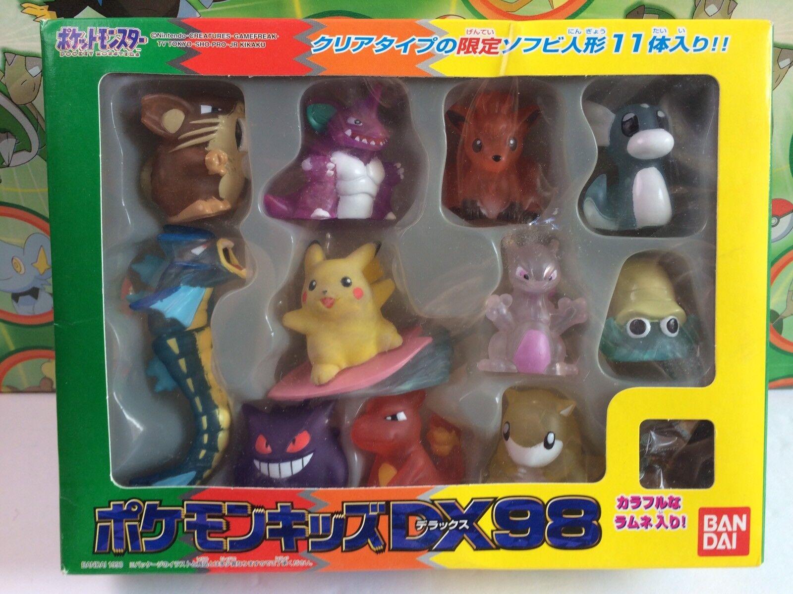 Pokemon Clear Kid Figure Set Surfing Pikachu Gyarados Vulpix Dratini Gengar Box