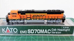 N-Scale-KATO-SD70MAC-039-BNSF-Swoosh-039-DCC-Ready-Item-176-6321