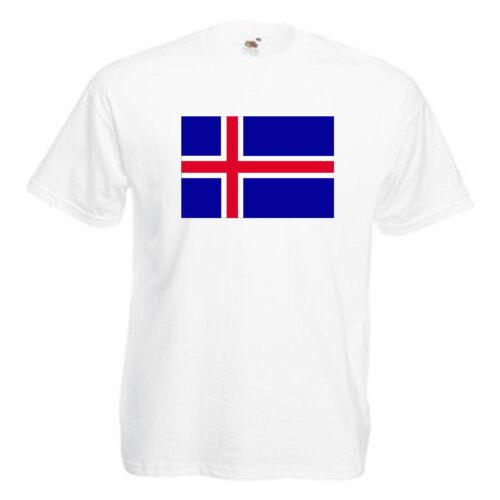 Iceland Flag Children/'s Kids T Shirt