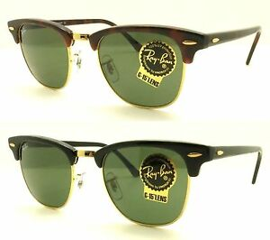 6c88f0baad Ray Ban Clubmaster RB 3016 Authentic Sunglasses W0365 Black or W0366 ...