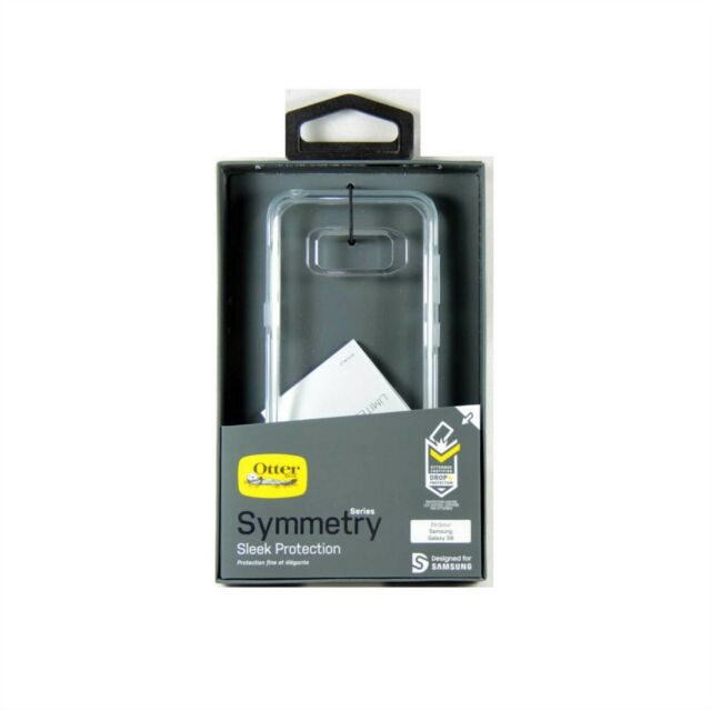 OTTERBOX CASE FOR GALAXY S8 SYMMETRY DROP SHOCK PROTECT CLEAR *RETURN1* 77-54659
