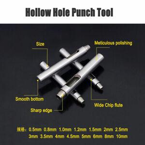 Foro-0-5-10mm-Hollow-Punzone-Set-Guarnizione-Foglio-In-Lamiera-in-Pelle-Vinile