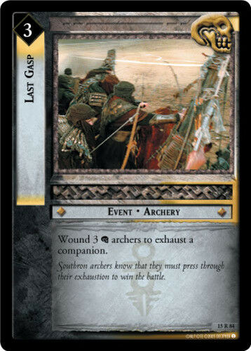 LOTR The Hunters Lord of the Rings TCG Decipher Last Gasp Mint//Near Mint
