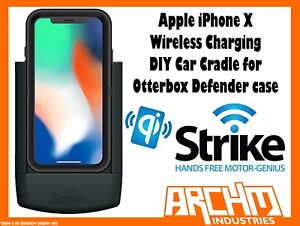 huge discount ac696 79775 Details about STRIKE ALPHA APPLE IPHONE X WIRELESS CHARGING CAR CRADLE  OTTERBOX DEFENDER DIY
