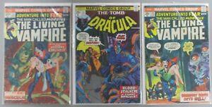 Morbius-Living-Vampire-21-28-Tomb-of-Dracula-25-1994-Reprint-Run-Lot-3-Comics