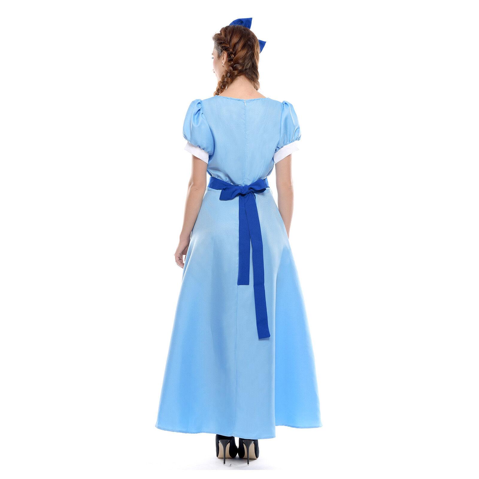 Custom Boutique Halloween Peter Pan WENDY Darling Blue Costume Girls Dress