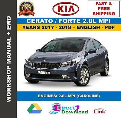 Workshop Manual Kia Cerato Forte 2.0L MPI 2017-2018 ...