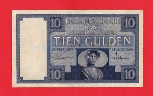 10-Gulden-Niederlande-1929-TIEN-Nr-SM-058072-in-Original-Erhaltung