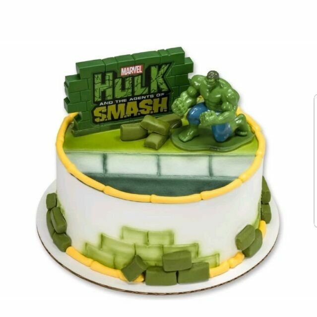 Fantastic Decopac The Incredible Hulk 3D Agent Of Smash Cake Topper For Sale Personalised Birthday Cards Veneteletsinfo