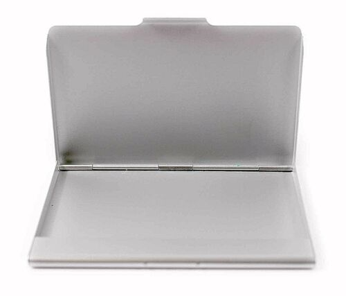 10 x matt silver aluminium business credit card holder cases slim brand new lowest price reheart Images