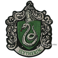 "Harry Potter Slytherin Snake Crest Embroidered IRON ON Patch Badge 3 1/4"" x 4"""