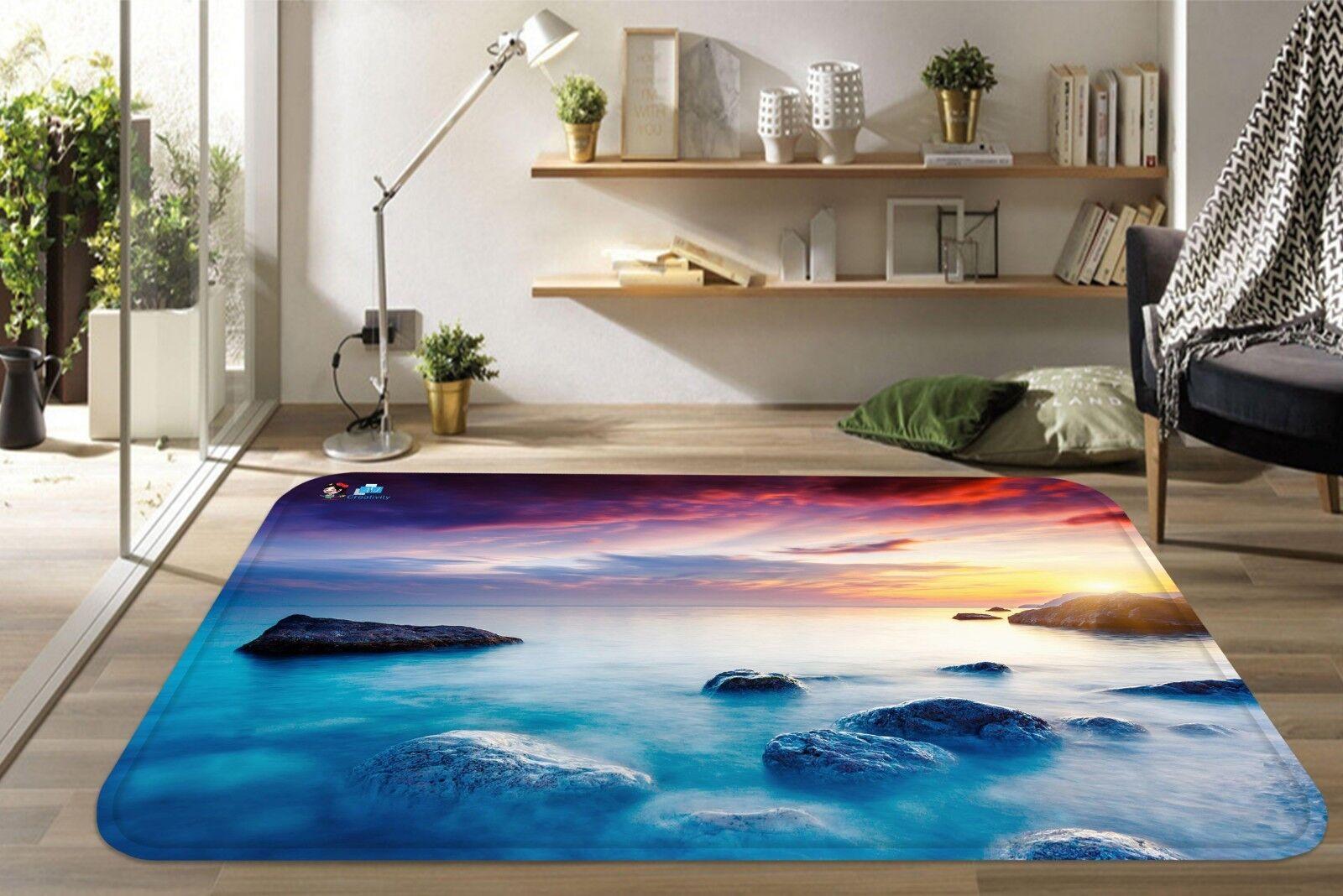 3d río piedras 049 non-slip Carpet mat quality elegante Carpet de Summer