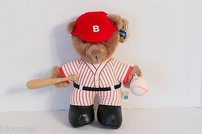 Dakin 1986 Slugger Bear - Vintage Baseball Teddy Bear Plush Toy Doll NEW NWT
