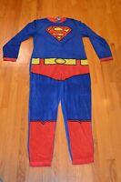 Men's Superman Union Suit Pajamas One Piece Sleepwear Size Large - With Tag