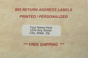 "800-Personaliz<wbr/>ed ""Great for "" Printed Address Labels -1/2 x1 3/4"
