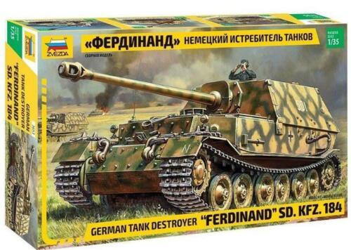 German Tank Destroyer Ferdinand SD KFZ 184 3653 ZVEZDA 1:35 New !