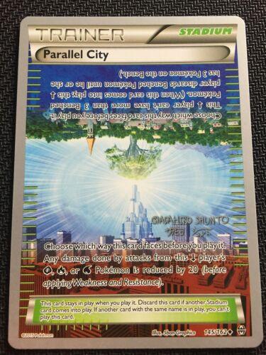 4 X PARALLEL CITY 145//162 World Championship PROMO Uncommon Pokemon TCG