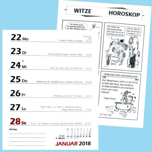 Abreißkalender 1 Woche 1 Seite Wochenplaner 2018 Wochenkalender  Tischkalender