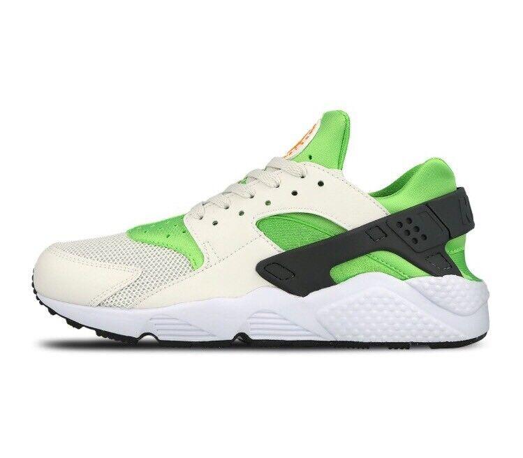 Nike air huarache correre 10,5 azione uomini verde - arancione, gli uomini azione bianchi, scarpe da corsa 328429-304 d65eb9