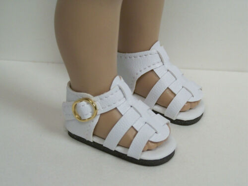 "Debs WHITE Strappy SANDALS Doll Shoes For Tonner 10/"" Ann Estelle Sophie Patsy"