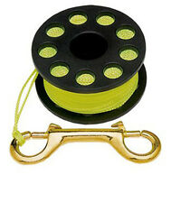 Finger Reel 100ft Brass Clip Scuba Water Spool Diving FL0219