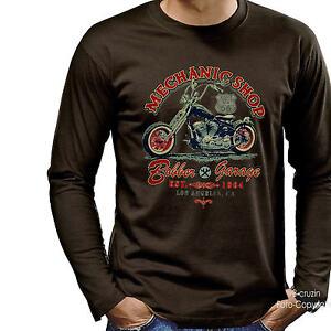* Vintage Harley-Chopper-Motiv Oldtimer Bike Biker Shirt *4239 br LS