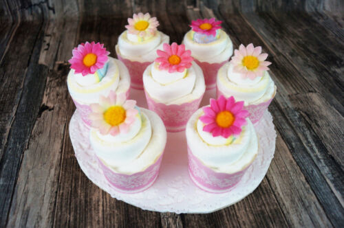 Windeltorte Windelmuffin als Geschenk zur Taufe oder Geburt ❤ Windelcupcake ❤