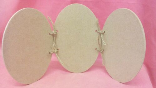 MDF Wooden Oval Plaque trio set craft blanks 1 set x 4mm Thick MDF  145mm wide