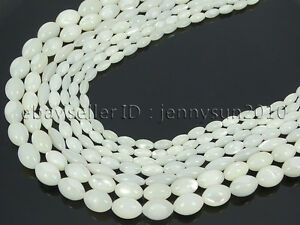 Natural-White-Mother-Of-Pearl-MOP-Shell-Rice-Spacer-Loose-Beads-16-039-039