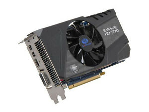 Sapphire radeon hd 7770 ghz edition video card 1024mb, gddr5.