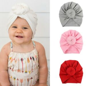 Newborn Baby Girl Soft Cute Indian Turban Knot Rabbit Hospital Hat ... 82486ca1086