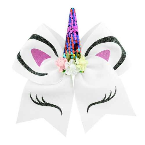 JOJO SIWA Girls Unicorn Hair Bow Hair Clip Glitter Alligator Bowknot Headwear