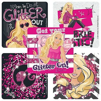 Barbie Stickers x 5 Glitter Birthday Party Supplies Pink//Fab//Dolls Loot Bags