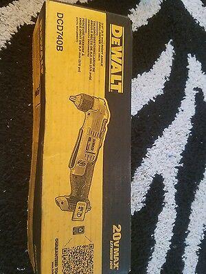 NEW DEWALT DCD740B 20-Volt MAX Li-Ion Right Angle Drill (Bare Tool)