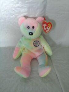 TY - Beanie Baby - Birthday Bear Plush - B.B. Bear
