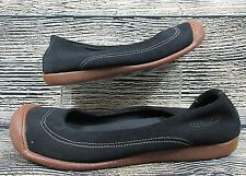 Keen Womens Shoes Black Suede Rubber Gum Sole Slip On Flats Loafers 8.5