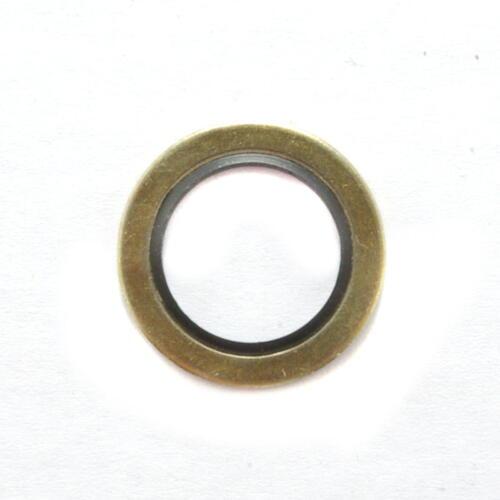 2 U-Ringe Schraubendichtungen 6,7 x 10 x 1 mm NBR//Stahl