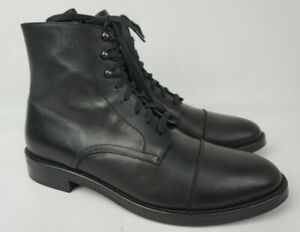 To Boot New York Henri Black Cap Toe Leather Men's Boots Size 9.5