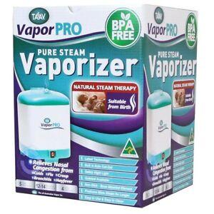 Taav Vapor PRO Pure Steam Vaporiser Relieves Nasal Congestion Colds Flu BPA FREE